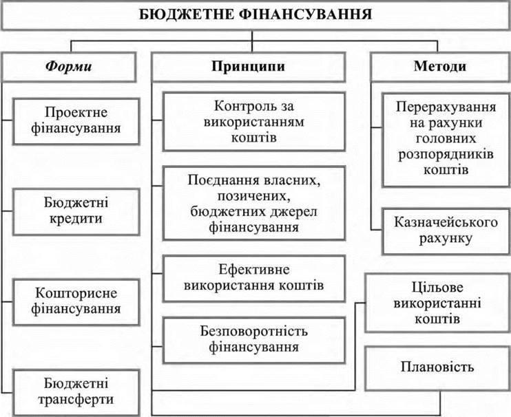 Принципи і форми бюджетного фінансування