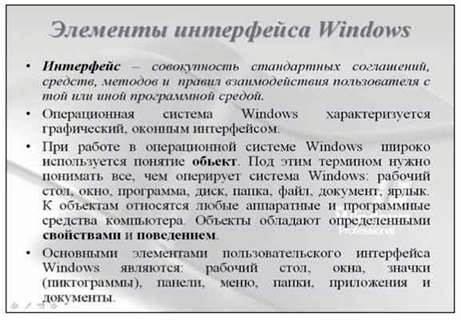 Принципи роботи користувача з операційною системою. Інтерфейс операційної системи. Різні види інтерфейсів. Основні обєкти, з якими працює операційна система