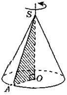 Конус. Площа поверхні та обєм конуса