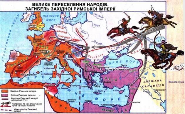 Велике переселення народів і утворення варварських держав