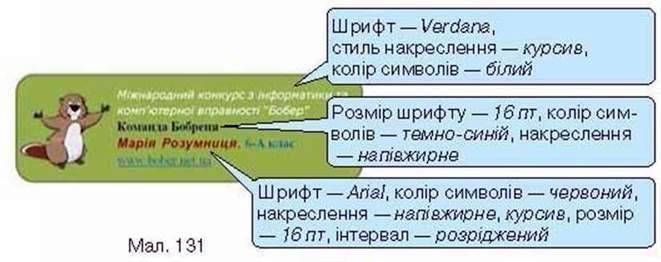 Форматування і друкування тексту