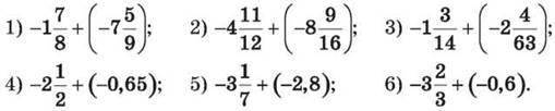 Додавання відємних чисел